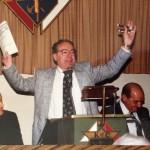 "Bishop Donald Wuerl, Pat ""Mr. Tootsie Roll"" Boccardi, and John P. Stern.  (Photo courtesy of Don Boccardi.)"